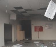 1,5 Milyonluk Yatırım Çürümeye Terk Edilen Spor Salonunda Yangın Çıktı .