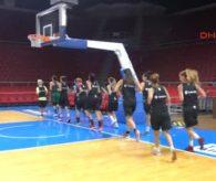 A Milli Kadın Basketbol Takımı Günün İlk Çalışmasını Yaptı