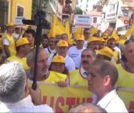 Aydın Eğitim Sen Aydın'da MEB'i Protesto Etti