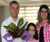 Evde Eğitim Hizmeti Gören Meryem'den Kaymakam Tura'ya Ziyaret