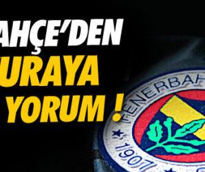 Fenerbahçe'den kuraya ilk yorum !