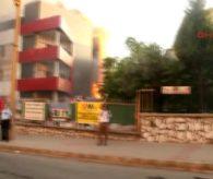 Muğla Sağlık Merkezi İnşaatında Yangın
