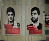 DEMOKRASİ ŞEHİTLERİ'NİN FOTOĞRAFLARI METRO VE MARMARAY'DA