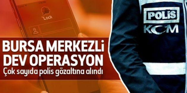 Bursa merkezli ByLock operasyonu: 27 polis gözaltında