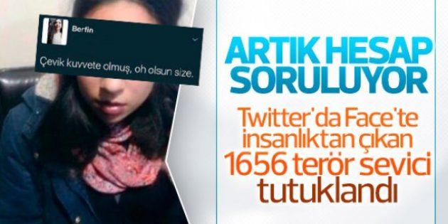 Sosyal medyada teröre destek veren 1656 kişi tutuklandı