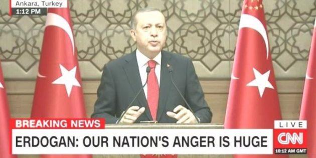 CNN'de bir ilk: Erdoğan'ı canlı verdi!